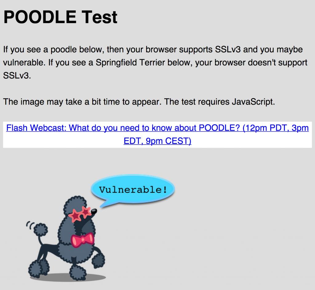 Testing for SSLv3 (Poodle)